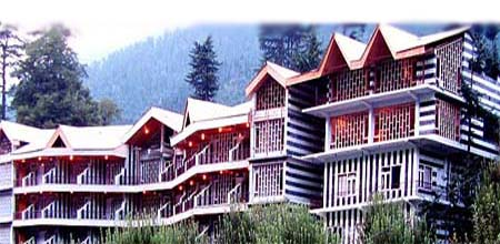 Mountain View of Resorts in Manali