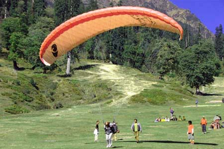 Paragliding at  Manali India